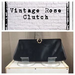 Vintage 1960's leather clutch